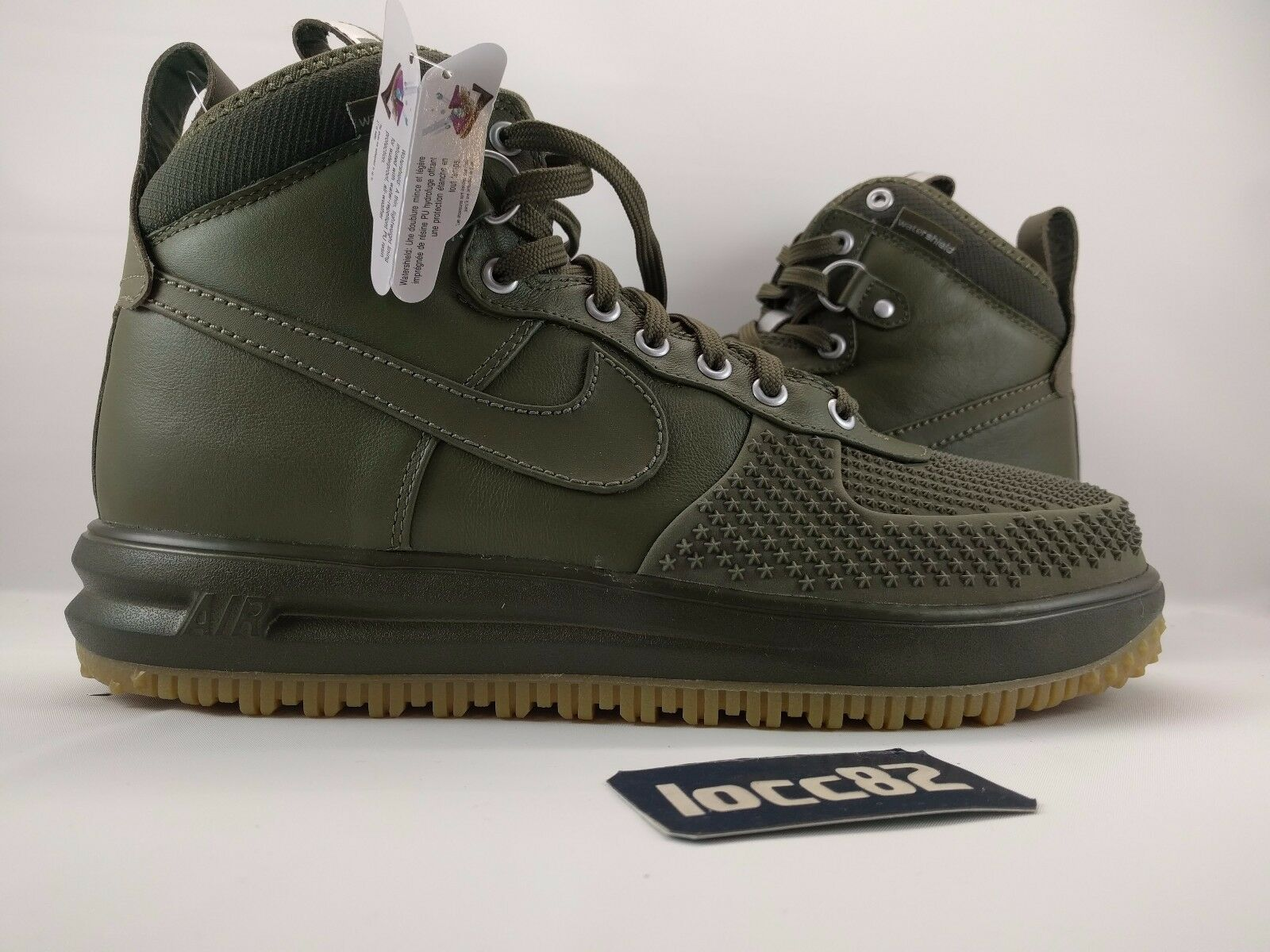 Nike Men Lunar Force 1 Sneakerboot Duckboot sz 7.5 [805899 201] Olive army camo