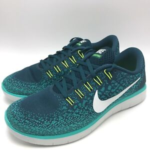 brand new 41c6b a3a21 Details about Nike Free RN Distance Men's Running Shoes White/Teal  827115-301
