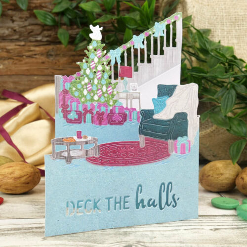 Hunkydory Moonstone Festive Moments Dies Tri Fold Cards Set The Scene 5 Dies