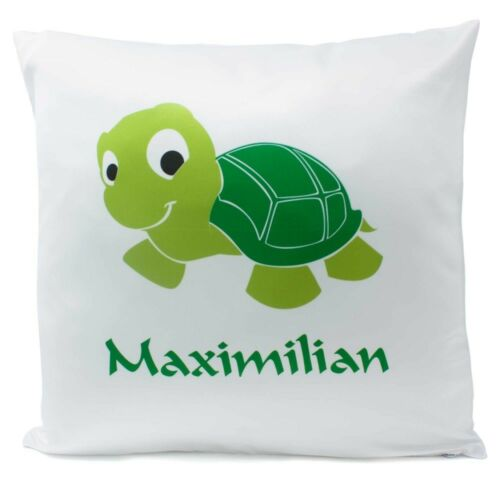 Füllung Kuschelkissen Kissen mit Namen Geburt Schildkröte 40x40 cm inkl