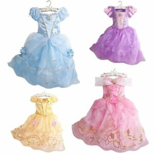 e313454b4779 Baby Girls Summer Dress Cinderella Snow White Cosplay Party Princess ...