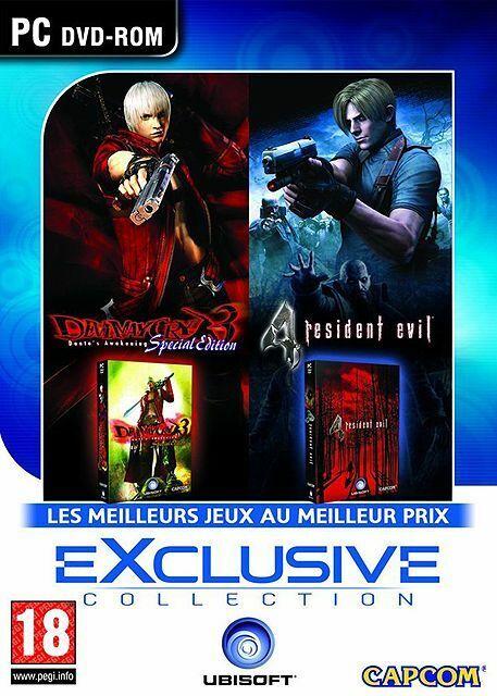 DEVIL MAY CRY 3 + RESIDENT EVIL 4 PACK 2 JEUX PC NEUF SOUS BLISTER D'ORIGINE VF