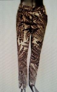 con Pantaloni Nwt di New Ralph marrone stampa palma Pantaloni 16 Lauren donna da E11xBqnUf