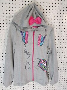 afcfc5acd65 Jojo Siwa Girl s French Terry Hoodie With 3D Bow - Size 10 12