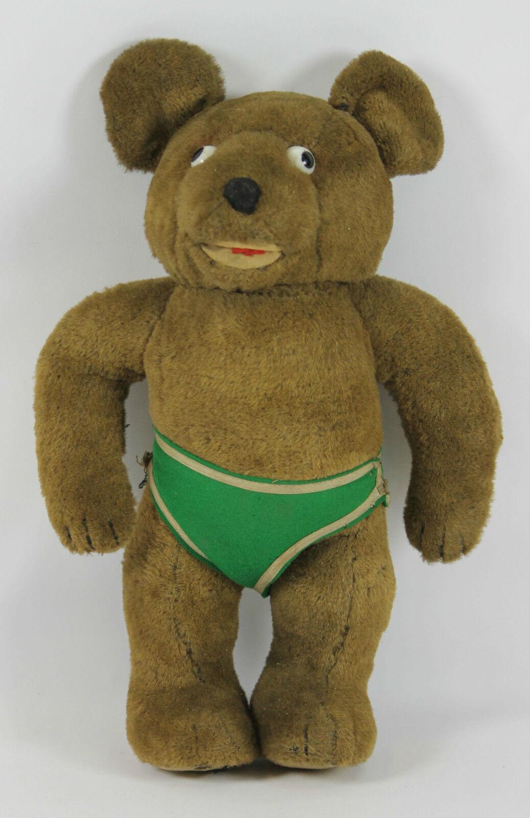 TEDDY orso. PELUCHE. PELUCHE. PELUCHE. BOURRÉ DE PAILLE. COUSU À LA MAIN. YEUX DE BOUTON. 1920. d63d1d
