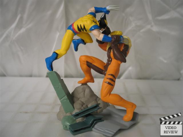Wolverine Vs Dientes De Sable-Marvel Legends Miniatura, Marvel Comics; aplausos Nuevo