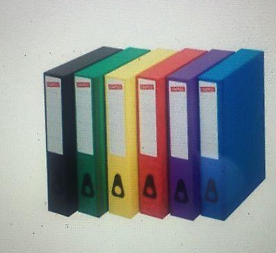 SLIM LINE COLOURED BOX FILES RED BLACK BLUE GREEN YELLOW FREE24H