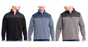 NEW-Eddie-Bauer-Men-039-s-1-4-Zip-Mixed-Media-Pullover-Variety