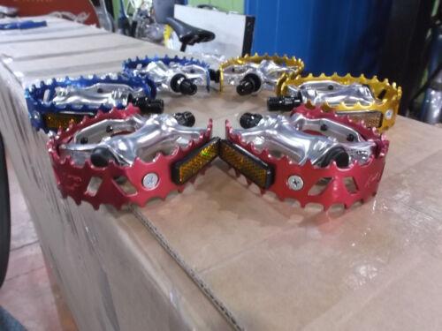 vp bear trap pedals set blue red gold 9//16 3 piece crank