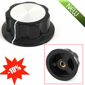 2x-36mm-Top-Rotary-Control-Turning-Knob-for-Hole-6mm-Shaft-Potentiometer-Adjust