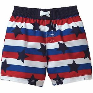 9cd2310761150 Op Toddler Boys Americana Swim Trunks 12 months to 5T 2T 3T 4T Stars ...