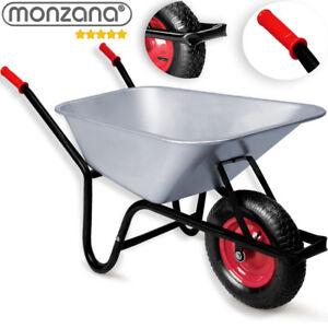 monzana-Schubkarre-100L-Bauschubkarre-bis-250kg-Gartenkarre-verzinkt-Stollenrad