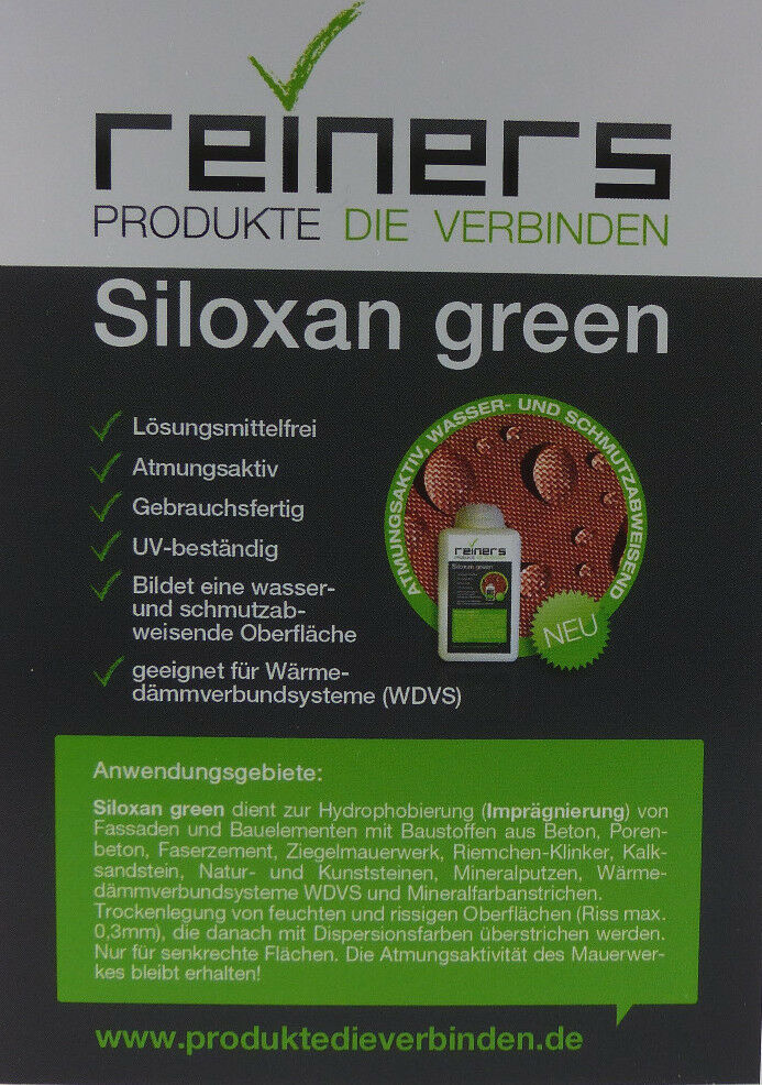 20 Liter Siloxan Grün, Fassadenimprägnierung, Schlagregenschutz, Fassadenschutz