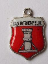 Bad Rothenfelde  vintage sterling silver shield enamel travel charm