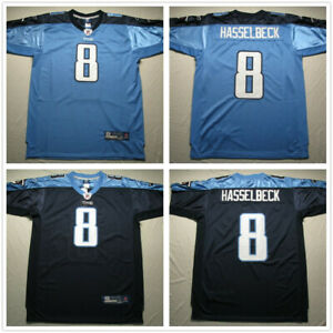 outlet store c35c0 17be8 Details about Men's Tennessee Titans #8 Matt Hasselbeck Stitched Jersey  Navy/Light Blue