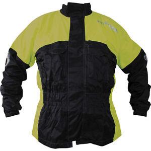 Richa-pluie-Warrior-impermeable-moto-veste-noir-jaune-fluo