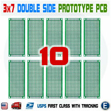 10pcs 3x7cm Pcb Universal Prototype Matrix Double Sided Protoboard Blank Board