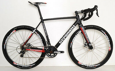 STRADALLI CYCLOCROSS GRAVEL PRO BICYCLE CX CARBON SHIMANO ULTEGRA VISION 58CM XL