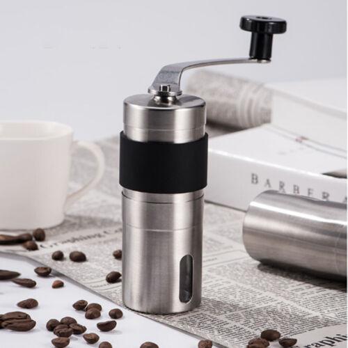 Tragbare manuelle Kaffeemühle Edelstahl Konischen Burr Hand Kurbel Bohnenmühle
