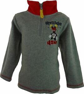 Boys-Disney-Mickey-Mouse-Fleece-Half-Zip-Sweatshirt-Grey-4-Years-104-cm
