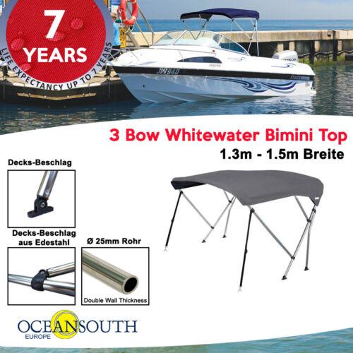 1.5M Grau Oceansouth Whitewater Bimini Top Bootsabdeckung 1.3M