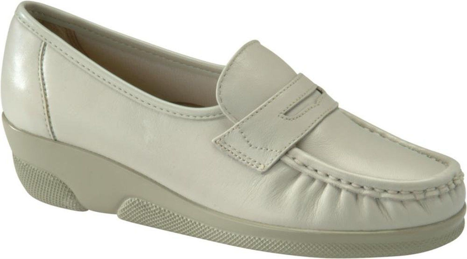 Softspots PENNIE 103803 Womens Bone Slip On Loafers Shoes