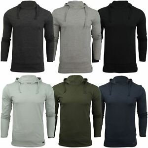Brave-Soul-Mens-Hoodie-T-Shirt-039-Morris-039-Long-Sleeved