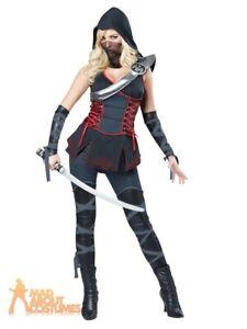 Adult Sexy Black Ninja Costume Japanese Assassins Creed Womens