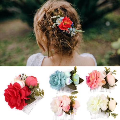 Flower Wedding Hair Pins Bridesmaid Floral Hairpin Bridal Clips Grip Jewelry Vi