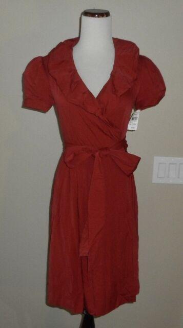 8e0e6ffeb NWT Diane von Furstenberg Bethania True Wrap Red Dress 0 DvF Neiman Marcus  $375