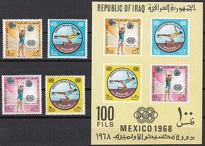 Block 16 **, 1969 Olympische Sommerspiele 556a-59a Diplomatisch Irak 22972 Zu Den Ersten äHnlichen Produkten ZäHlen