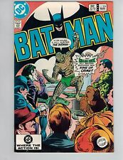 Batman 359  1st Killer Croc Cover!  VF! 1983