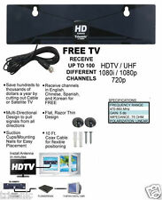 Digital Indoor TV Antenna HDTV DTV Box Ready HD VHF UHF Flat Design High Gain