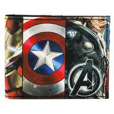 AWESOME MARVEL COMICS AVENGERS SUBLIMATED WEAPONS BI-FOLD WALLET *BRAND NEW*
