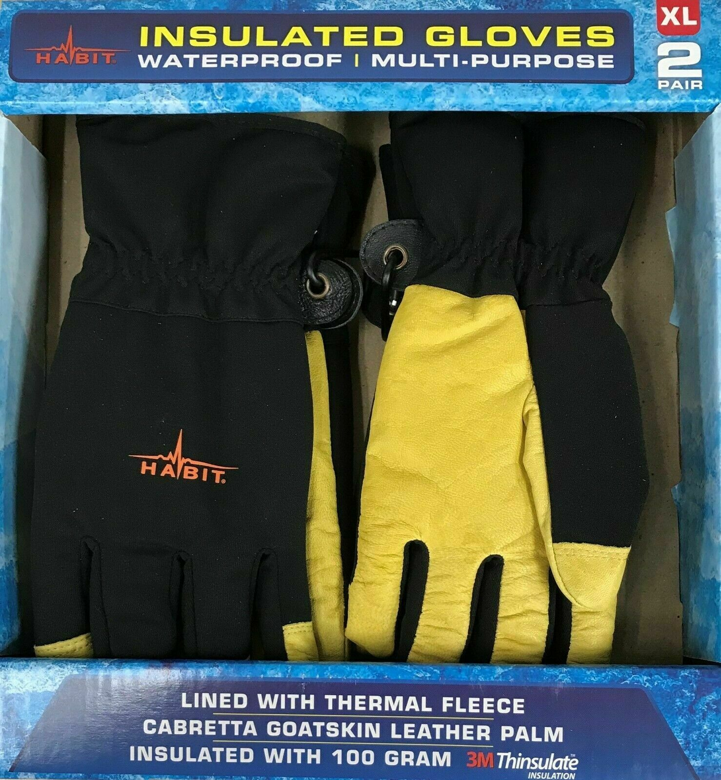 NEW Habit Insulated Gloves Waterproof Multipurpose FAST SHIPPING!