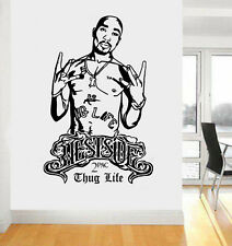 2Pac Tupac Westside Thug Life Rapper Hip Hop Legend DIY Wall Art Sticker/Decal