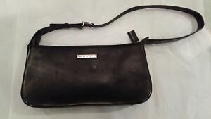 Image Is Loading Gently Used Gucci Italy Black Leather Purse Handbag