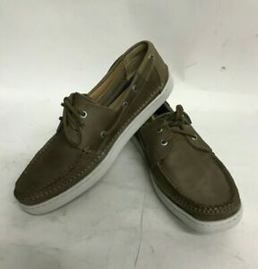 New-in-Box-HOMME-TAILLE-8-5-SEBAGO-Ryde-oeil-en-Cuir-Taupe-Chaussures-Bateau-B226077