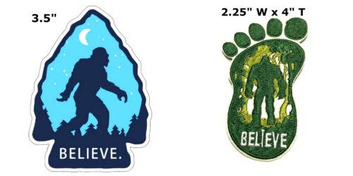 Bigfoot 2 Pcs Embroidered Patch Iron Sew-on Souvenir Travel
