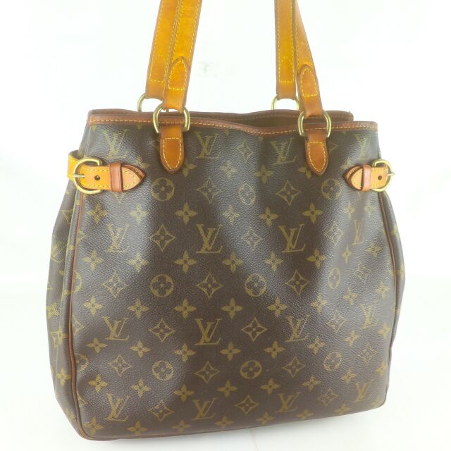 LOUIS VUITTON BATIGNOLLES VERTICAL Tote Bag Shoulder Purse Monogram M51153 Brown
