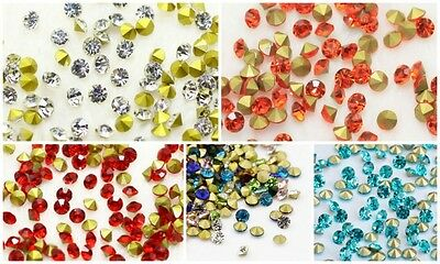 Grade A Crystal Glass Chatons Rhinestones Pointed Back Plated - lady-muck1