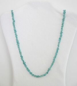 Apatite-Natural-Small-Chip-Stone-Beads-33-Long-Strand-Necklace-NWT-CAPT