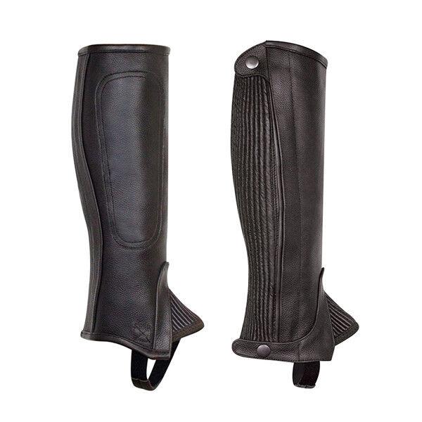 Nuevo Perri's Leather profesional medio Chaps-Negro, Alto Para Adultos XS