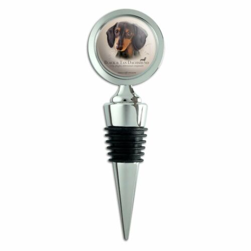 Black and Tan Dachshund Wiener Dog Breed Wine Bottle Stopper