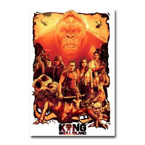 KONG; SKULL ISLAND Movie Art Silk Poster 12x18 24x36