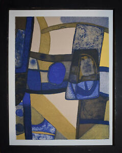 Listed-French-Artist-Maurice-Esteve-Original-Lithograph-034-Alalito-034-Abstract