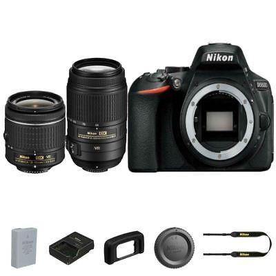 Nikon D5600 DSLR Camera + 18-55mm AF-P VR + 55-300mm f/4.5-5.6G