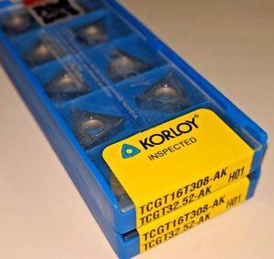 KORLOY-TCGT-32-51-AK-TCGT-16T304-AK-H01-Carbide-Inserts-for-Aluminum-10-PCS