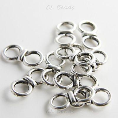 20pcs Oxidized Silver Tone Base Metal Links-20x10mm (9650Y-D-26A)