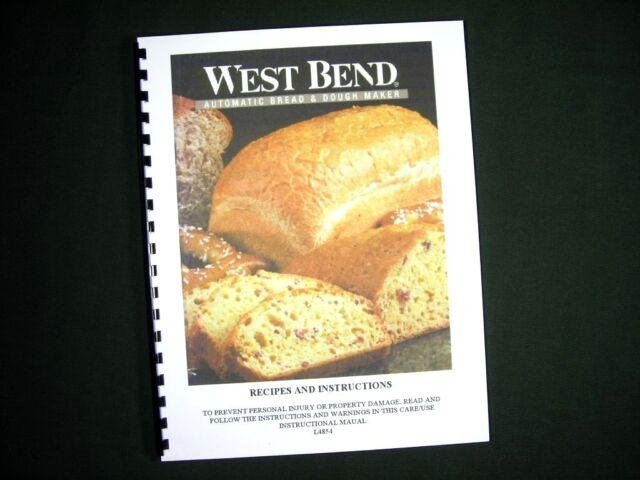 west bend bread maker manual 41055